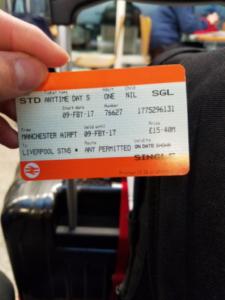 リバプール電車のチケット