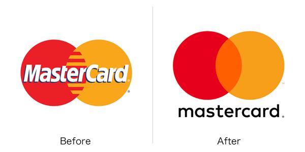 マスターカードのロゴ変更