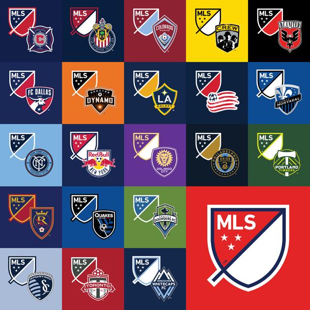 メジャーリーグサッカーのチームロゴ