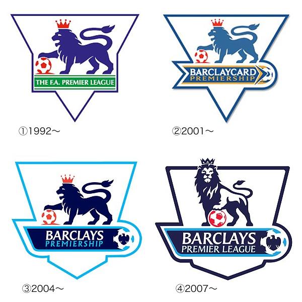 歴代のプレミアリーグのロゴ変遷