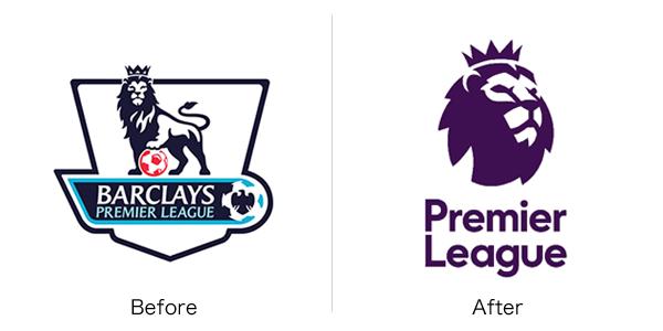 プレミアリーグの新旧ロゴ