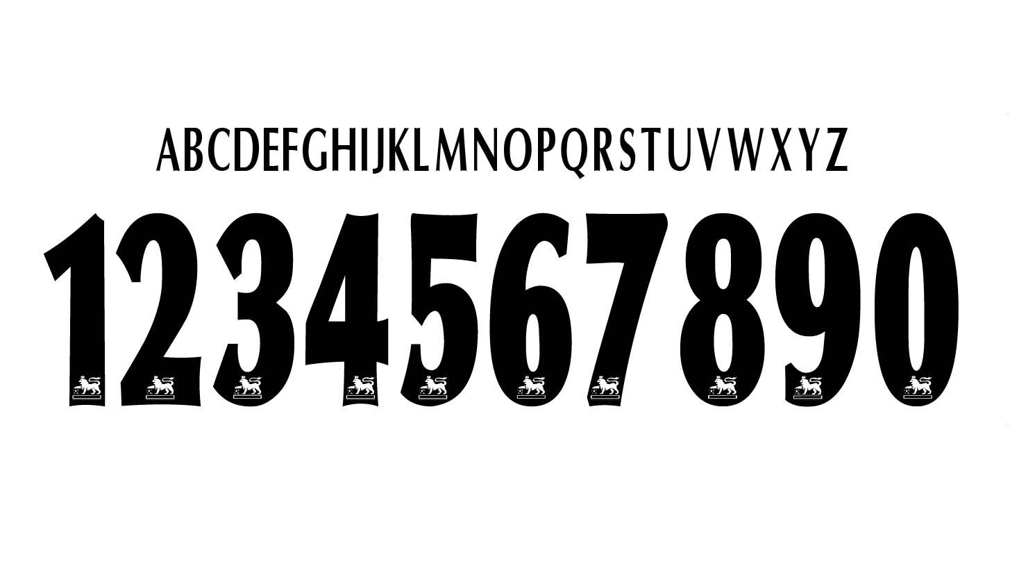 初代プレミアリーグ統一フォント(1997年~)
