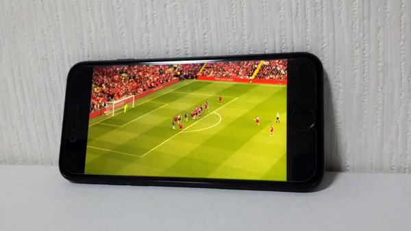 iPhone7でスポナビライブを再生