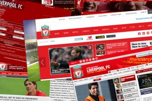 リバプールFC公式WEBサイトの変遷と各時代におけるクラブの狙い