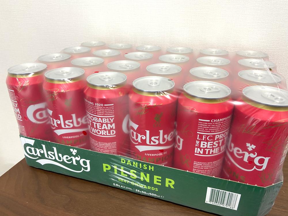 カールスバーグの「リバプール優勝記念ビール」を買ってみた